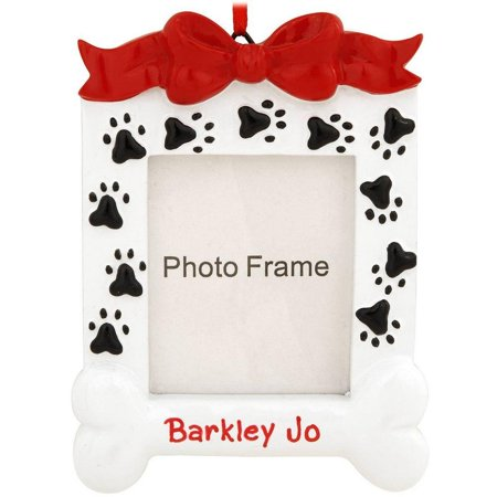 Dog Bone Frame Personalized Christmas Ornament DO-IT-YOURSELF