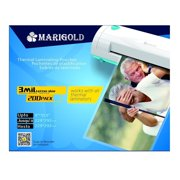 """Marigold 200-Pack Count 3 mil letter size, 9""""x11.5"""", Thermal Laminating Pouches Laminator Film Sheets for laminator"""