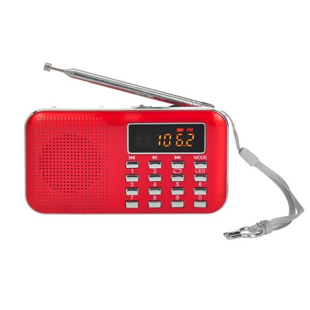 Y-896 Mini FM Radio Digital Portable 3W Stereo Speaker MP3 Audio Player High Fidelity Sound Quality w/ 2 Inch Display Screen Support USB Drive TF Card AUX-IN Earphone-out