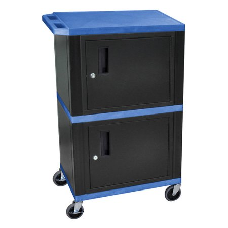 H Wilson Company Mobile Printer Stand With Cabinet