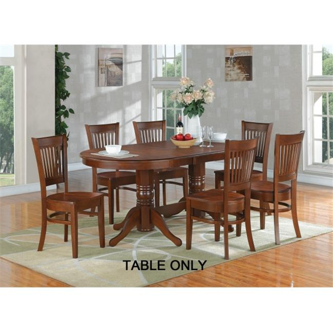 East West Furniture VAT-ESP-TP Vancouver Oval Double Pedestal dining room Table with 17 inch Butterfly Leaf