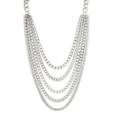 Lux Accessories Heavy Duty Chain Link Textured Statement Necklace.