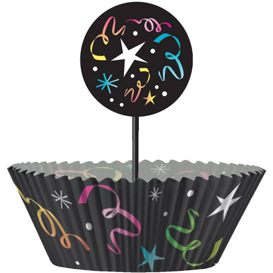 Happy New Years Eve Cupcake Kit for 24