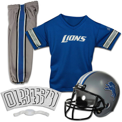 Franklin Sports NFL Detroit Lions Youth Licensed Deluxe Uniform Set, Small