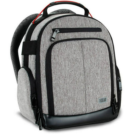 USA GEAR UBK DSLR Camera Backpack with Customizable Interior Storage , Weather Resistant Bottom and Comfort Padded Back Support for Nikon , Canon , Sony and More
