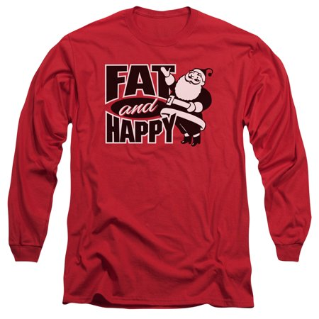FAT AND HAPPY - L/S ADULT 18/1 - RED - XL