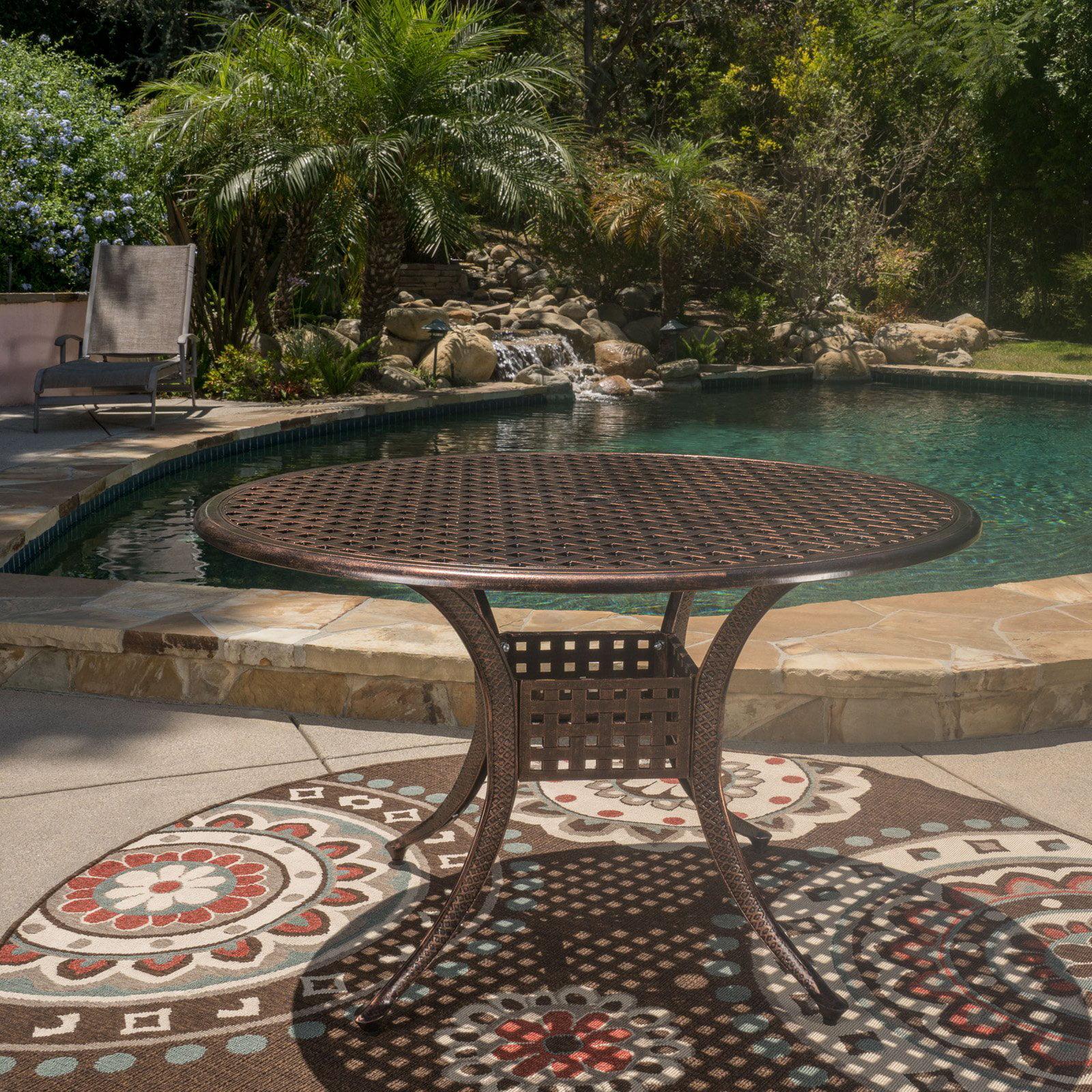 Tahoe Aluminum Circular Outdoor Table