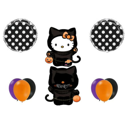 HALLOWEEN HELLO KITTY Party Balloons Decoration Supplies Trick Or Treat Birthday - Halloween Treats Decorations