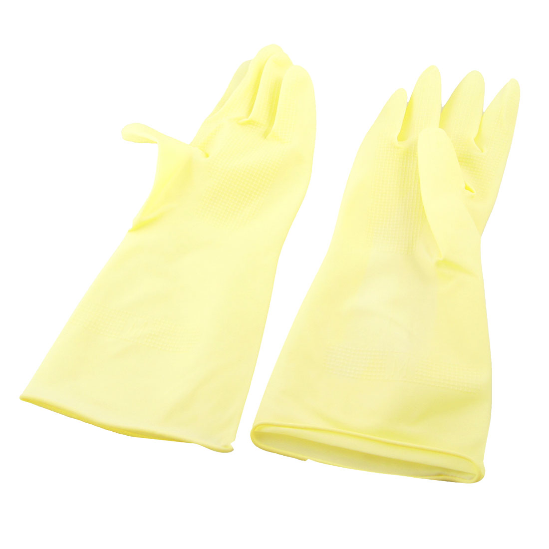 Unique Bargains Pair Protective Kitchen Dishes Washing Cleaning Latex Work Long Gloves - image 1 of 1