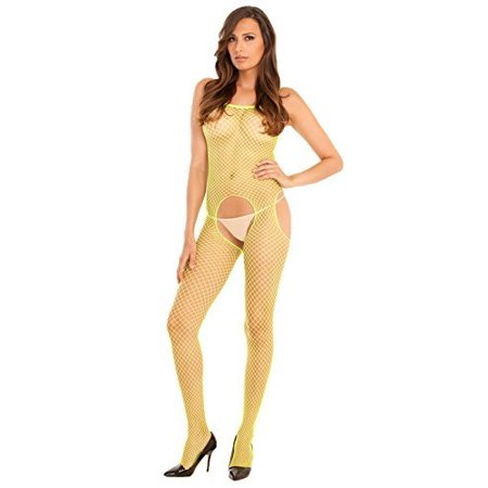 - Rene Rofe Women's Industrial Net Crotchless Bodystocking