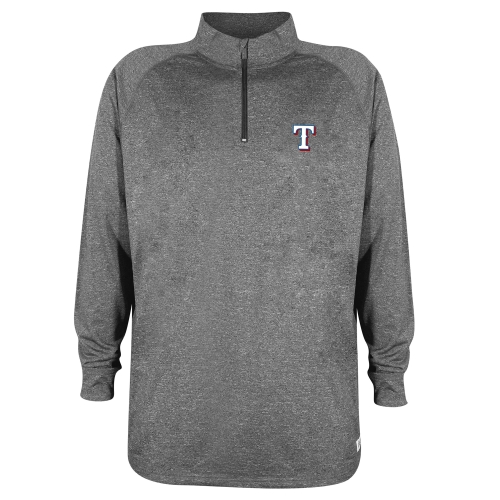 Texas Rangers Stitches Quarter-Zip Pullover Jacket - Charcoal