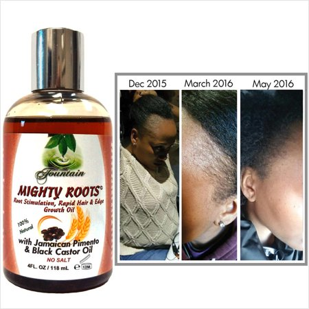 Edge Growth & Thin Hair Serum with Organic Jamaican Pimento & Black Castor Oil/Satin