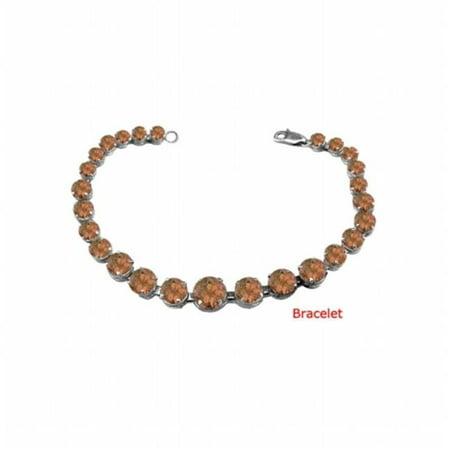 UBBRBK7205W14SQ December Birthstone Smoky Quartz Graduated Bead Necklace in 14K White Gold 15 CT TGW 14k Smoky Quartz Necklace