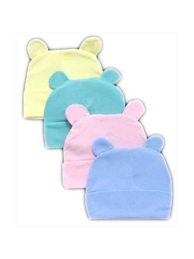 Baby Fleece Beanies - Winter Caps With Ears 6 Pc  Pack - Gifts   (WCK1151)