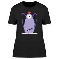 Crazy Purple Monster Doodle Tee Women's -Image by Shutterstock