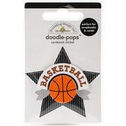 Doodlebug Doodle-Pops 3D Stickers-Slam Dunk