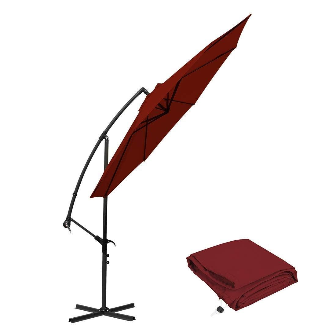 10 Ft Cantilever Patio Umbrellas, Red Outdoor Water Resistant Offset  Umbrella   Walmart.com