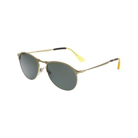 Persol Men's Polarized PO7649S-106958-53 Gold Aviator Sunglasses