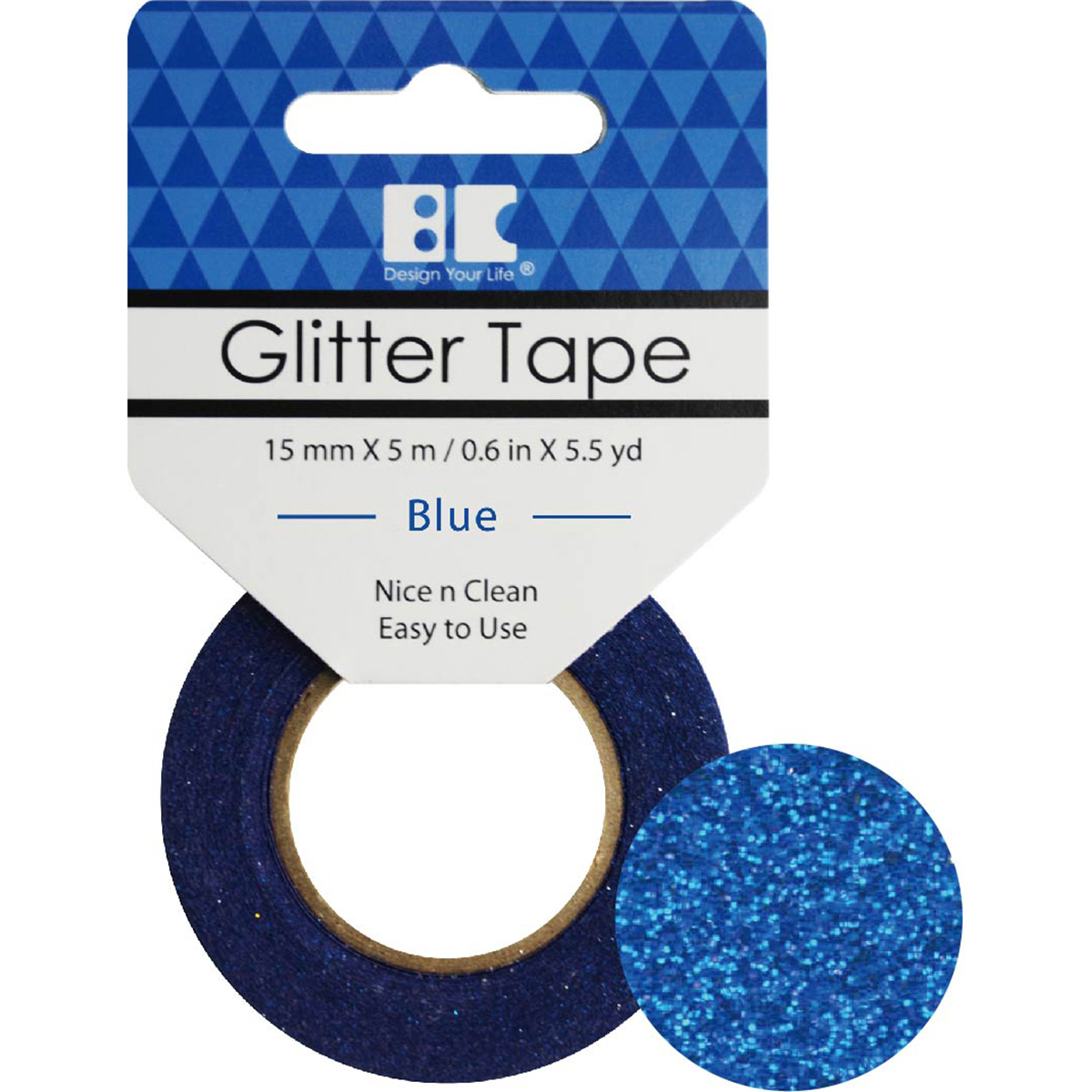 Best Creation Glitter Tape 15mmX5m-Blue