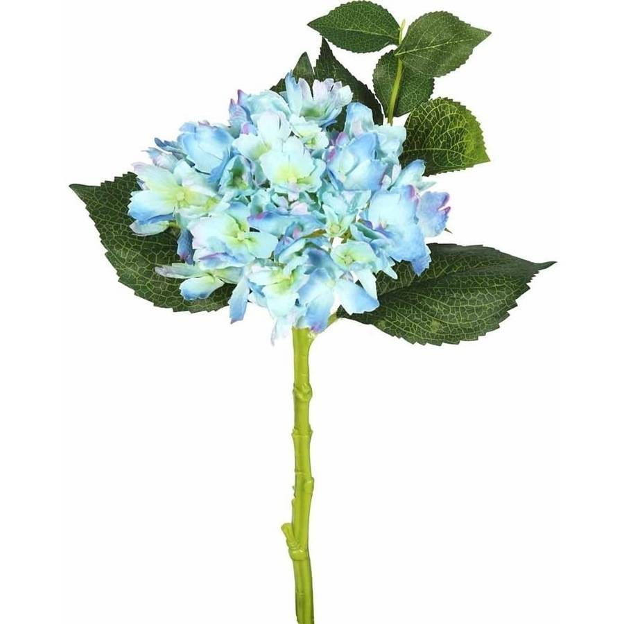 "Vickerman 15"" Short Stem Artificial Blue Hydrangea Featuring 2 Blossoms (3 Per Pack)"