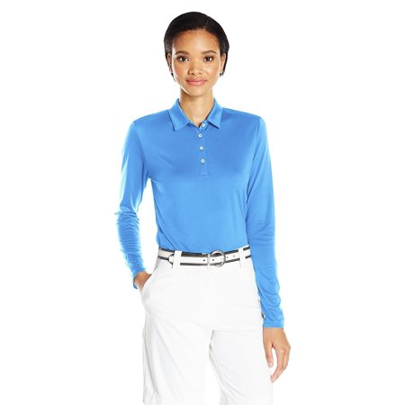 b49b976f Adidas Golf Women's Tornament Performance Long Sleeve Polo Shirt, Lucky  Blue - Walmart.com