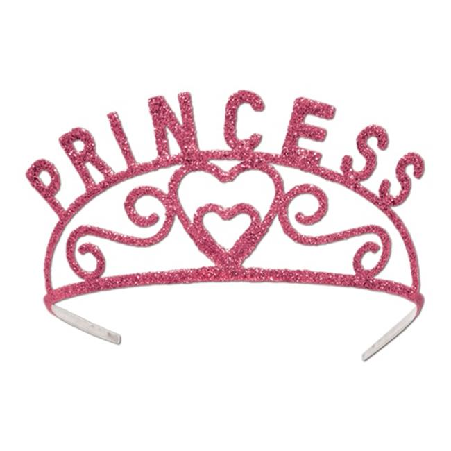 Beistle 60637-P Glittered Princess Tiara - Pack of 6