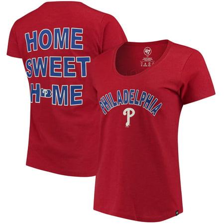 Philadelphia Phillies '47 Women's Club Scoop Neck T-Shirt - Red (Philadelphia Clubs Halloween)