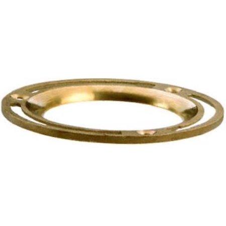 2PK 4 Diameter Brass Closet Flange 14 Oz Heavy Pattern