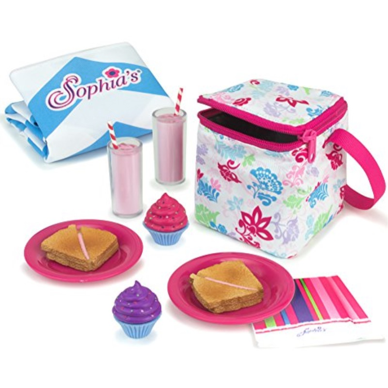 25 Piece Tea  Play Set for 18 inch American Girl Dolls Accessories by Sophia/'s