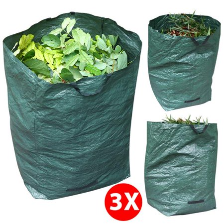 Topeakmart 3 Pack Garden Bag Heavy Duty Gardening Bags Lawn Pool Leaf Waste