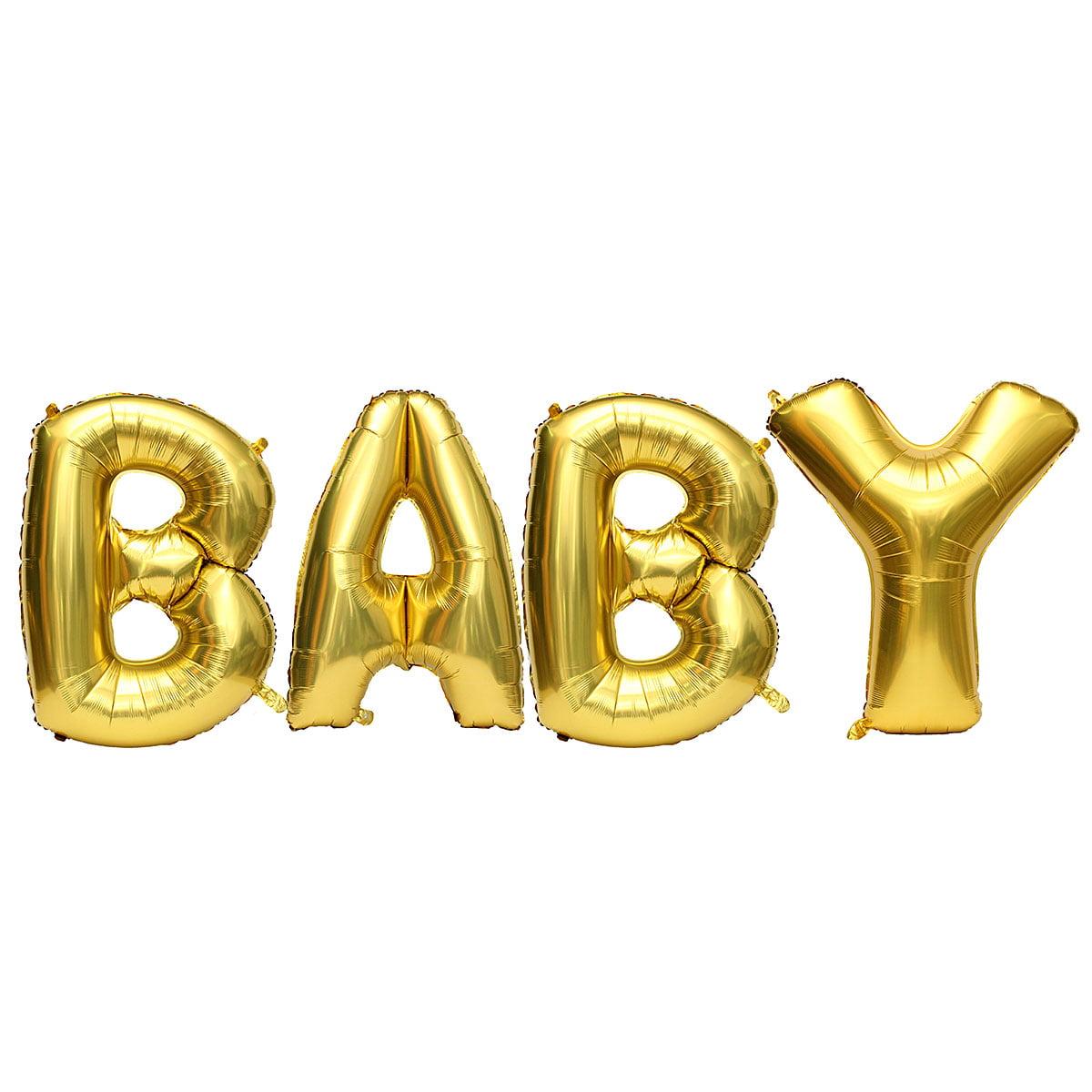 "Alphabet Foil Silvers: 16""/40"" Foil Balloon Letters "" BABY"" Set Alphabet Wedding"