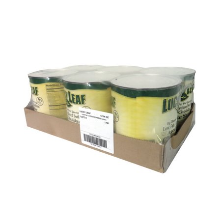 (Price/Pack)Lucky Leaf FFCSL0808LKL01 Lucky Leaf Low Fat/Reduced Sodium Aged Cheddar Cheese Sauce - Tff/Phof - 6/106 oz Cans - Low Fat Cream Cheese