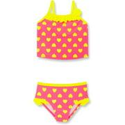 Toddler Girl Lovely Heart Print Tankini Swimsuit