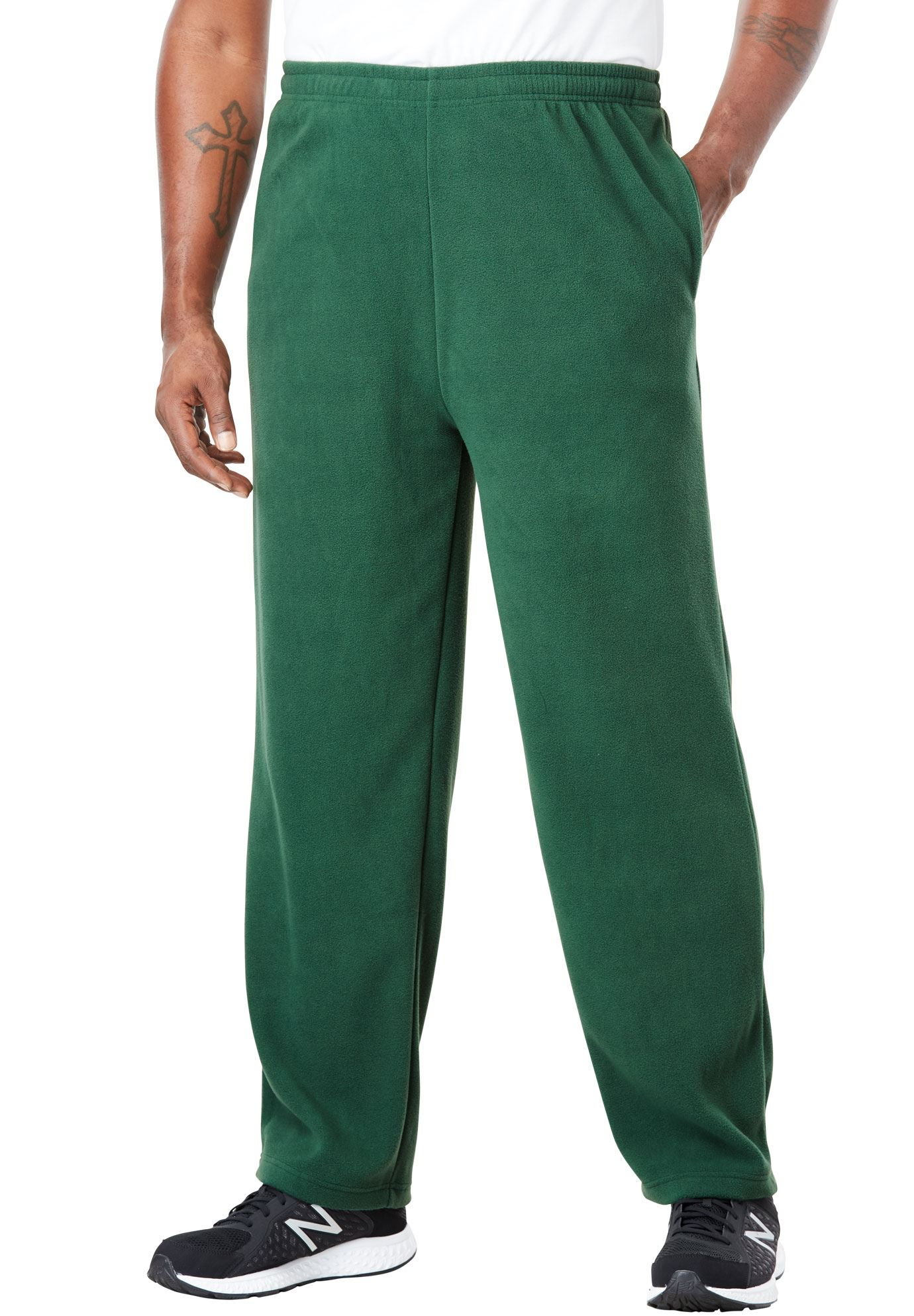 Kingsize Men's Big & Tall Explorer Fleece Open-bottom Sweatpants