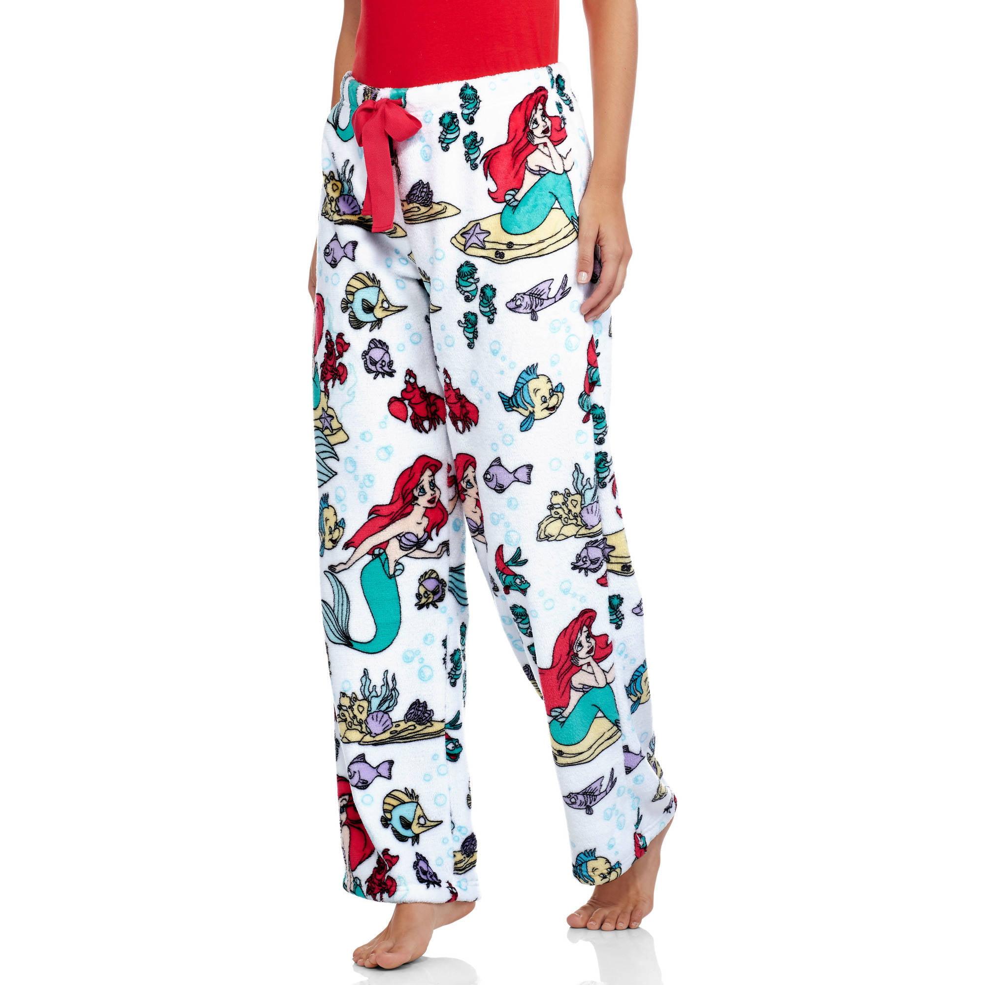 Disney Ariel Women's License Pajama Super Minky Plush Fleece Sleep Pant