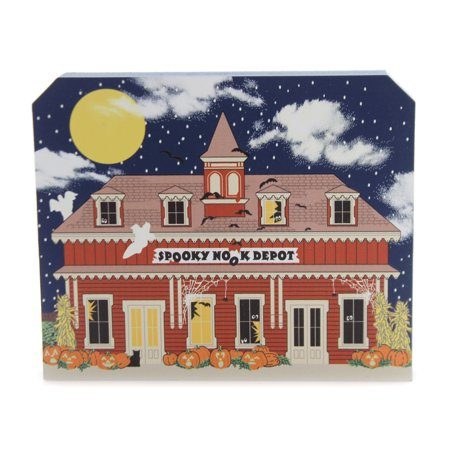 Cats Meow Village SPOOKY NOOK DEPOT Wood Halloween 18632