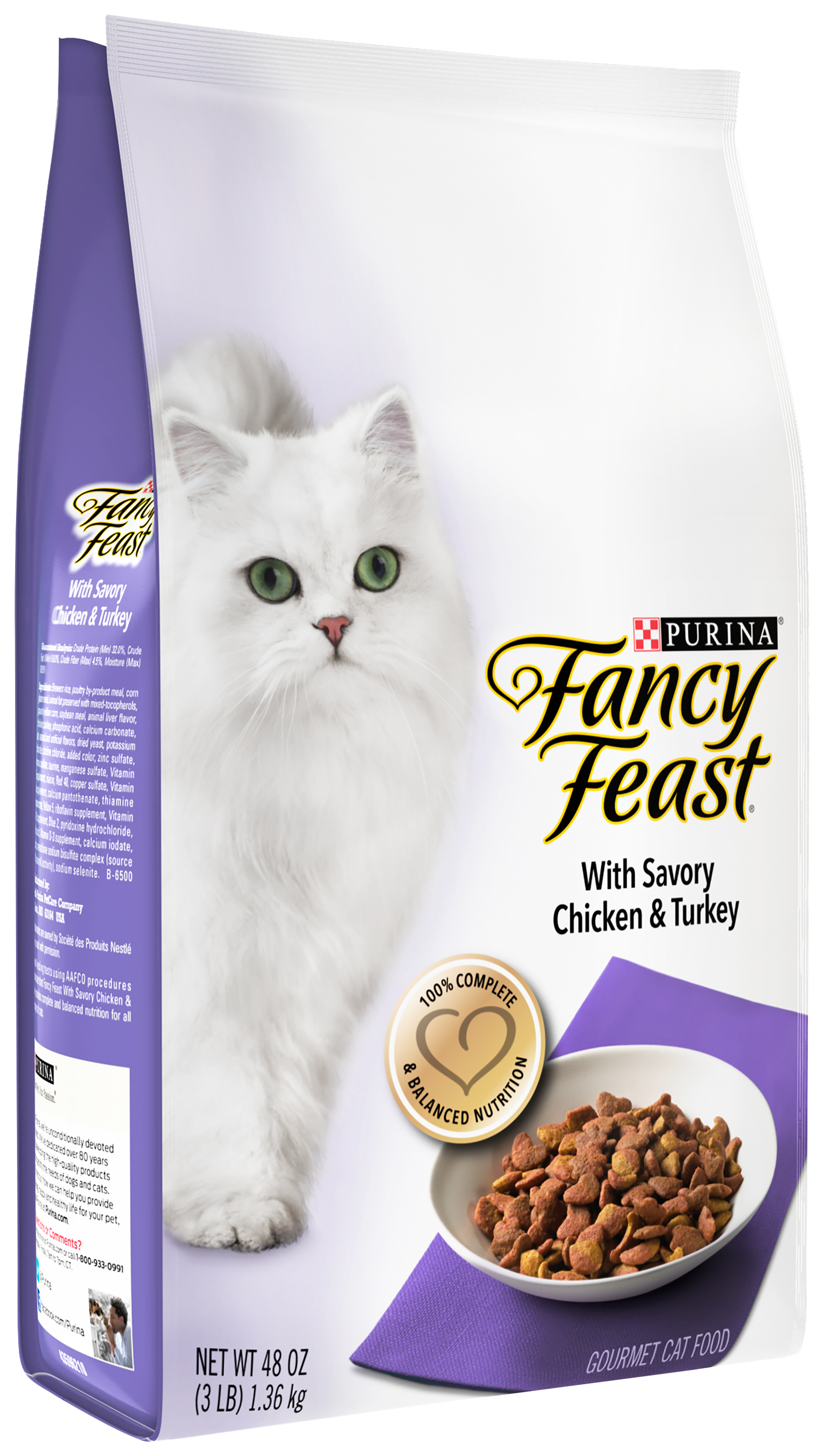 Purina Fancy Feast with Savory Chicken & Turkey Cat Food 3 lb. Bag