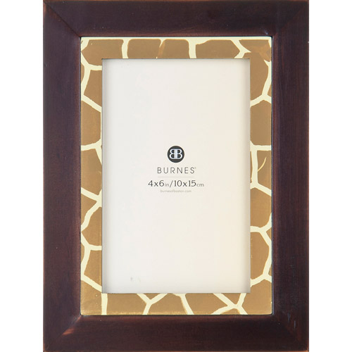 Burnes giraffe inlay photo frame walmart com