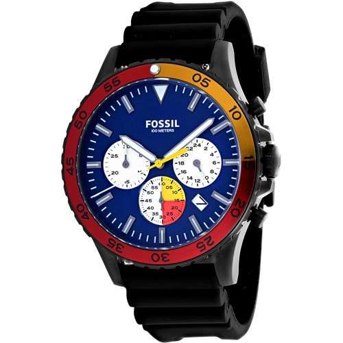 Fossil Men's Crewmaster Watch Quartz Mineral Crystal CH3058