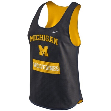 Nike Mesh Tank Top - Michigan Wolverines Nike Women's Gear Up Dri-FIT Mesh Tank Top - Navy