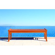 Outdoor Wood Backless Bench