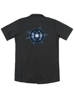 Green Lantern Indigo Glow (Back Print) Mens Work Shirt