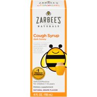 Zarbee's Naturals Children's Cough Syrup with Dark Honey, Natural Grape Flavor, 4 Fl. Ounces (1 Box)