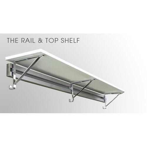 Arrange A Space Rail & 12 in. Top Shelf with Brackets