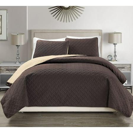 Victoria Embossed Ultra Soft Reversible Bedspread