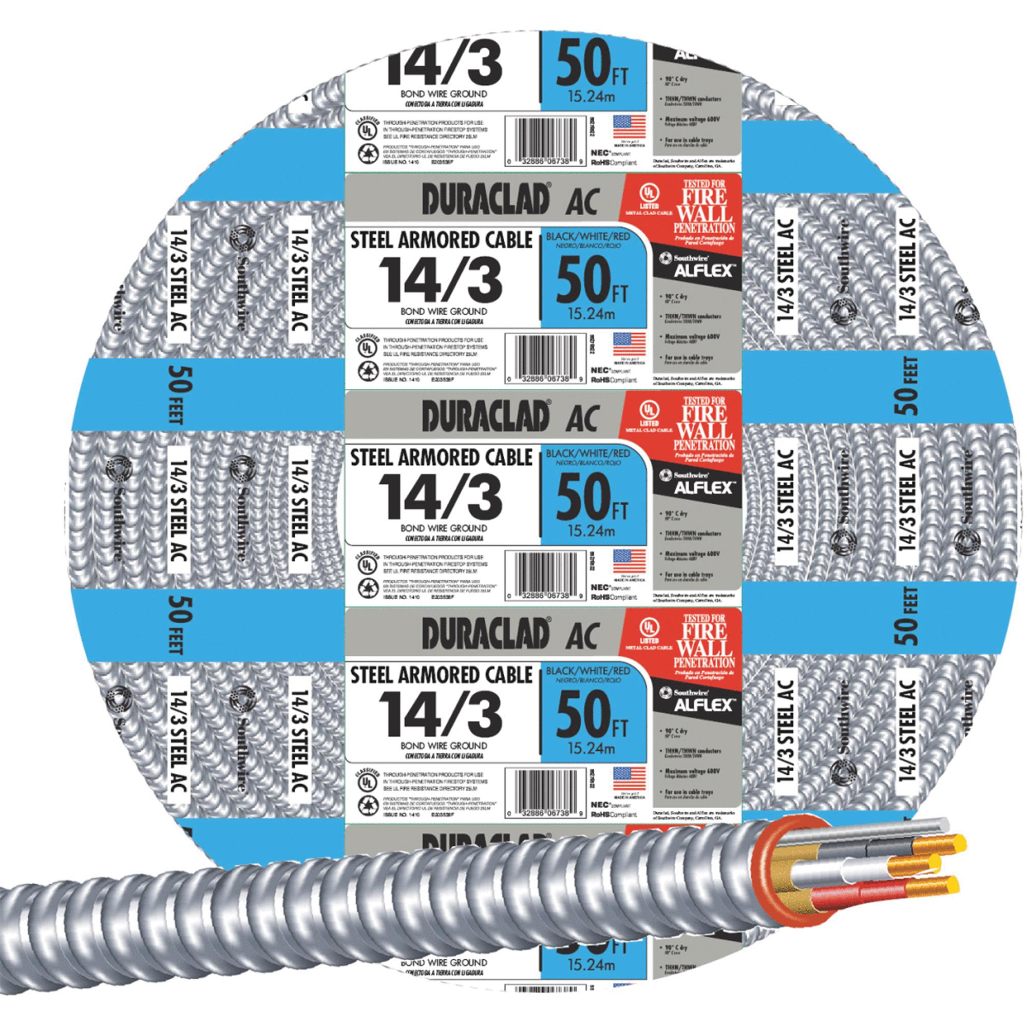 Southwire 14/3 Steel Armored Cable
