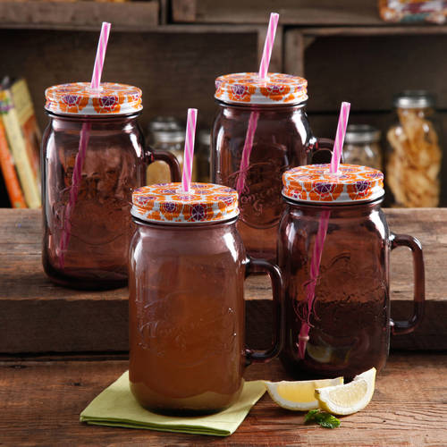 The Pioneer Woman Simple Homemade Goodness 32 oz Mason Jars, 4-Pack by Gibson Overseas Inc