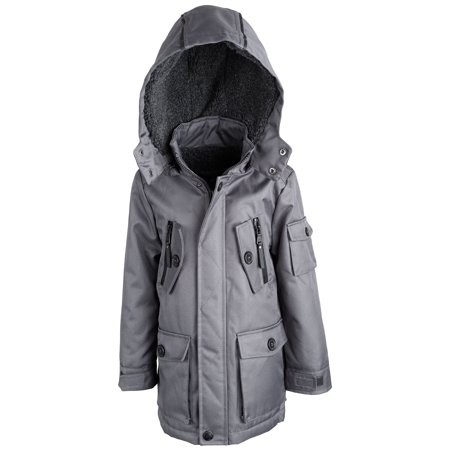 Urban Republic Boys Water Resistant Sherpa Lined Snowboard Parka Jacket Coat