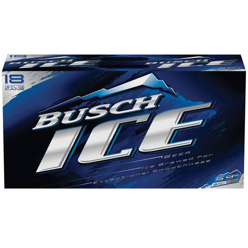 Busch Ice Beer, 18 pack, 12 fl oz