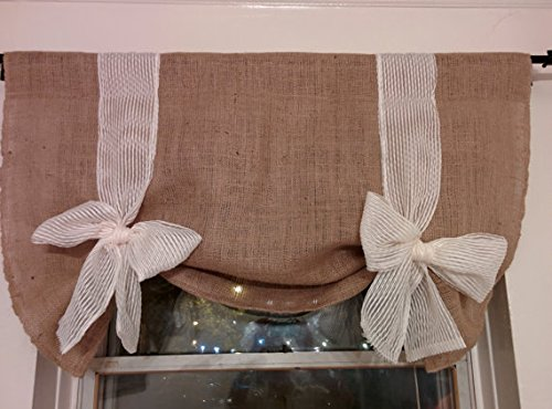 Km Curtains Handmade Tie up Valance Window Treatment custom order by KM CURTAINS